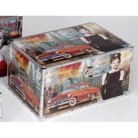 Liquidacion de Conjunto baules madera decorada Modelo Elvis