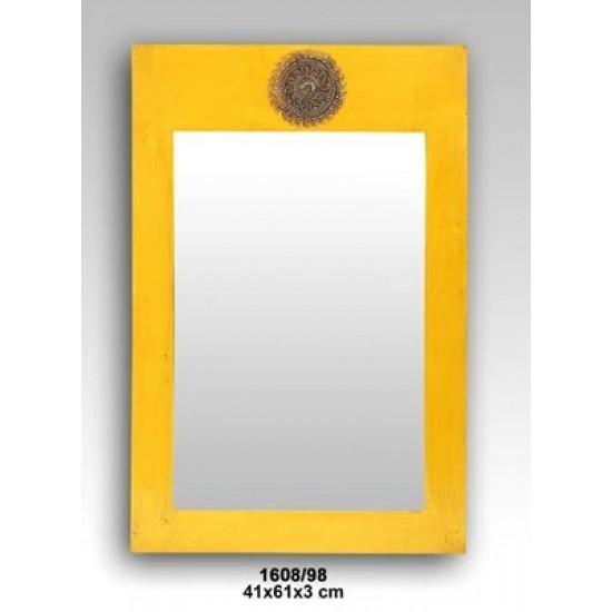 Liquidacion de marco espejo madera Modelo Sol Amarillo