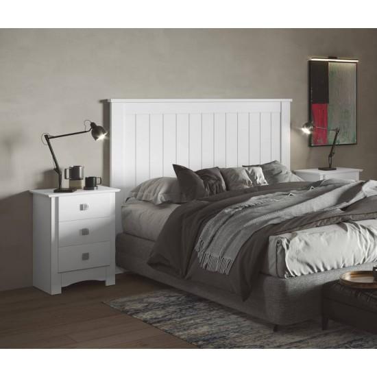Cabecero lacado blanco cama matrimonio Mediterraneo