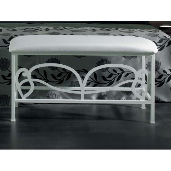 Banqueta para pie de cama de forja Modelo Hera