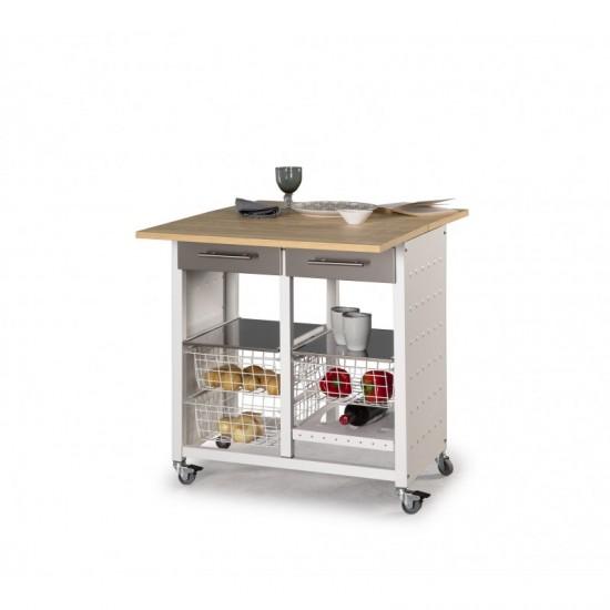 Mesa cocina plegable verdulero EKO OLMO
