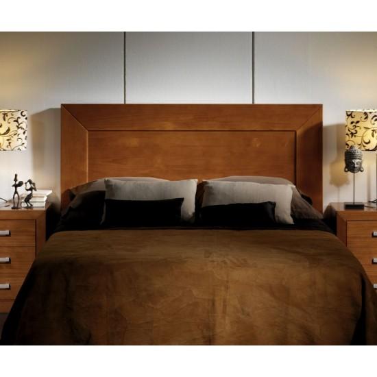 Cabecero cama matrimonio pino miel oscuro Nuevo Cristina