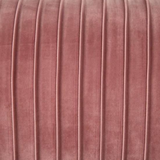 Banqueta rectangular tapizada patas metálicas vintage Rosa