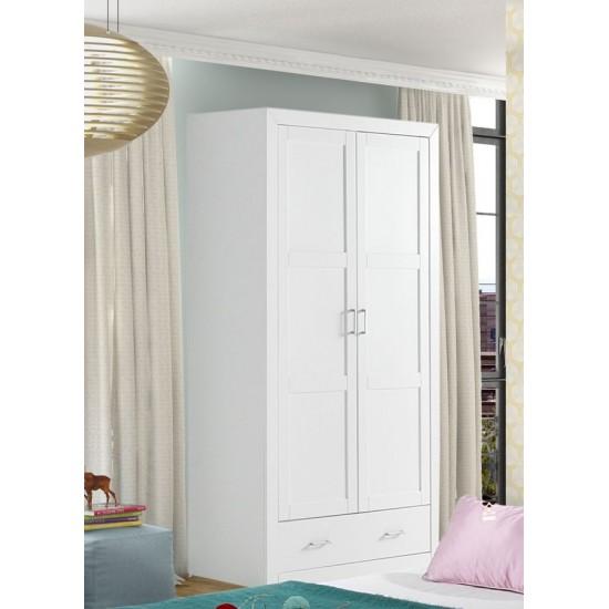Armario lacado blanco dos puertas  Alboran