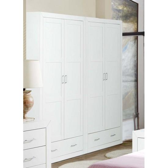 Armario lacado blanco cuatro puertas Alboran