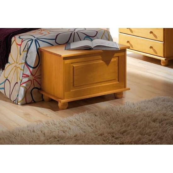 Baul pie de cama madera pino Provenza