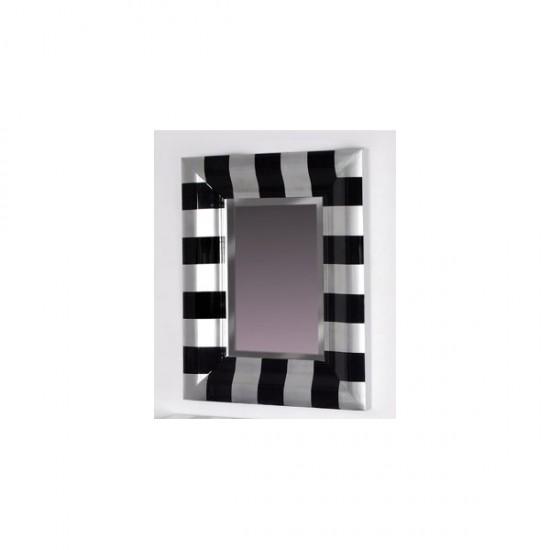 Liquidacion de espejo color negro y plata Modelo Cebra